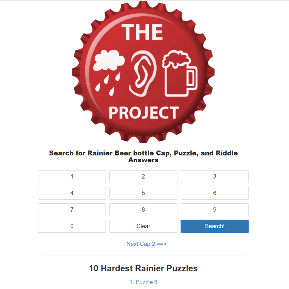 The Rainier Beer Project